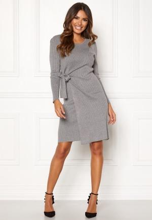 Happy Holly Elizabella knitted dress Grey melange 48/50