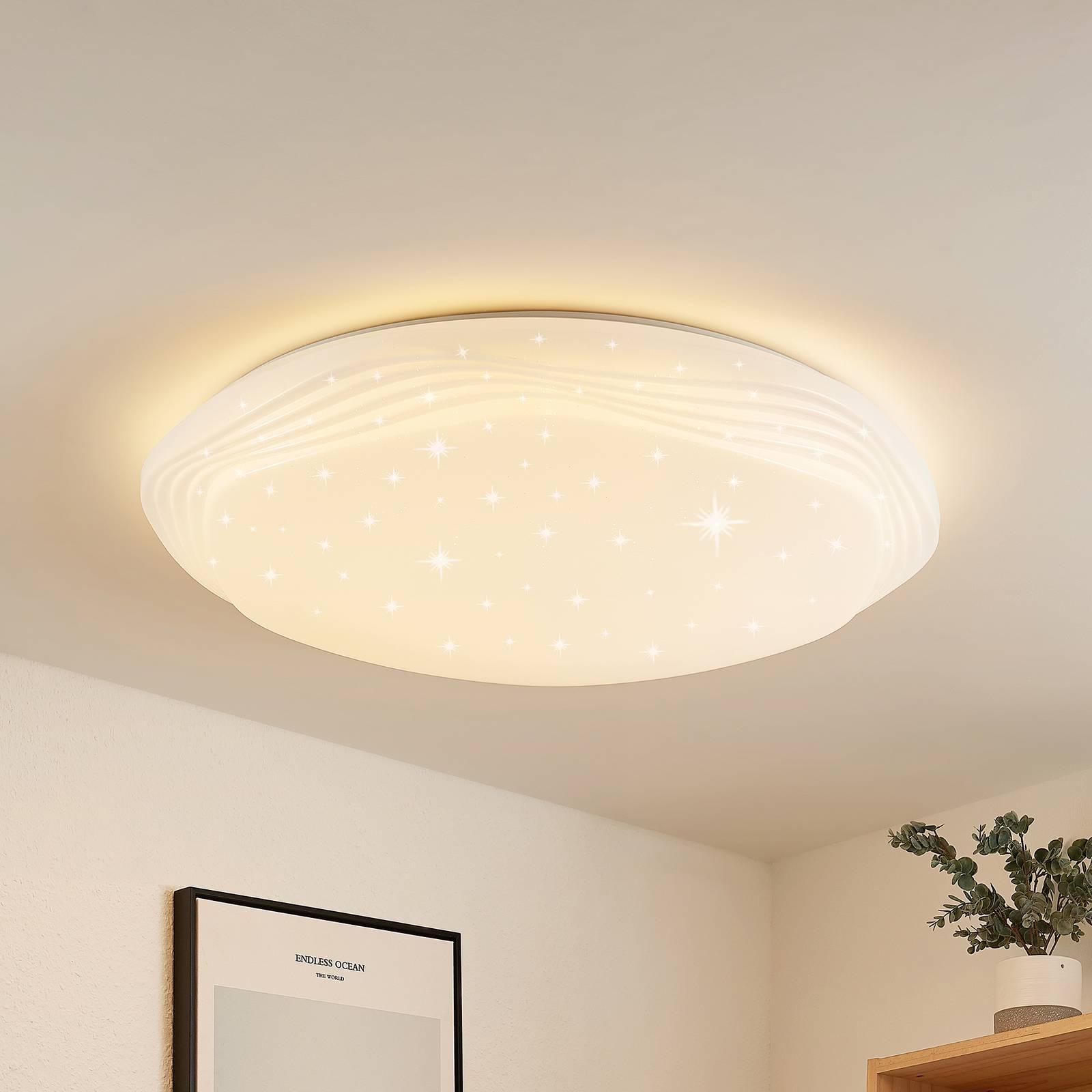 Lindby Cilara-LED-kattovalaisin CCT, himmennettävä