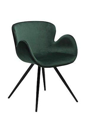 Stol Gaia Velour - Emerald Grønn