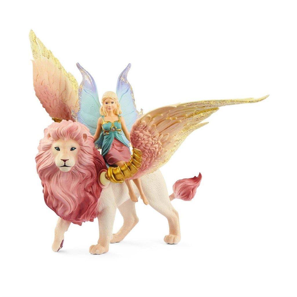 Schleich - Bayala - Fairy in Flight on Winged Lion (70714)