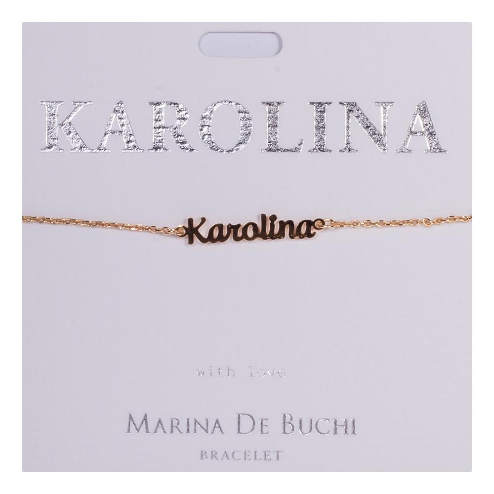 Namnarmband Guld - Karolina