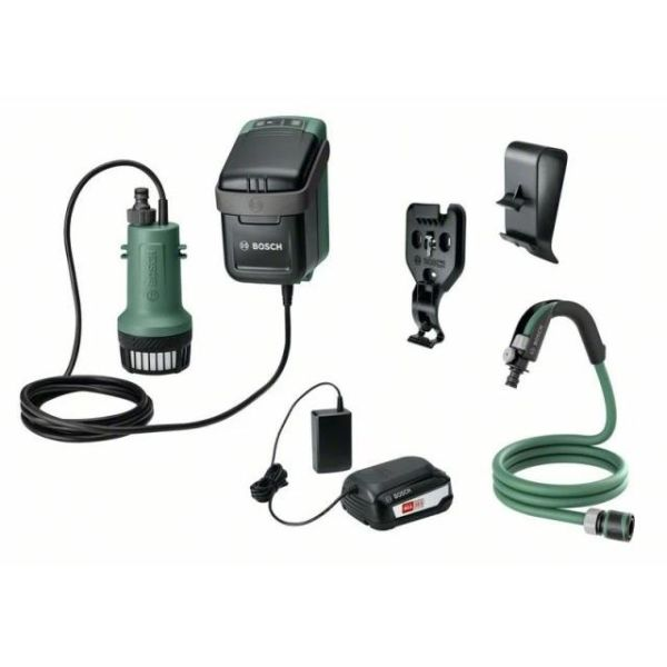 Bosch DIY GardenPump 18 Puutarhapumppu 2,5 Ah akulla ja laturilla