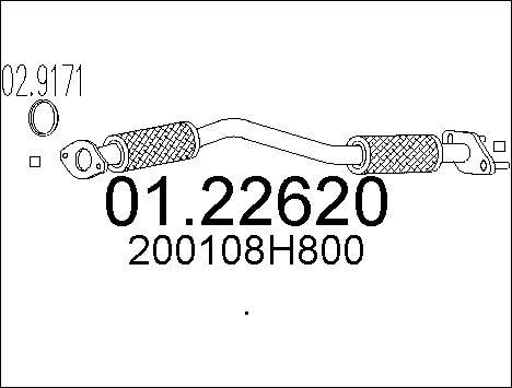 Pakoputki MTS 01.22620