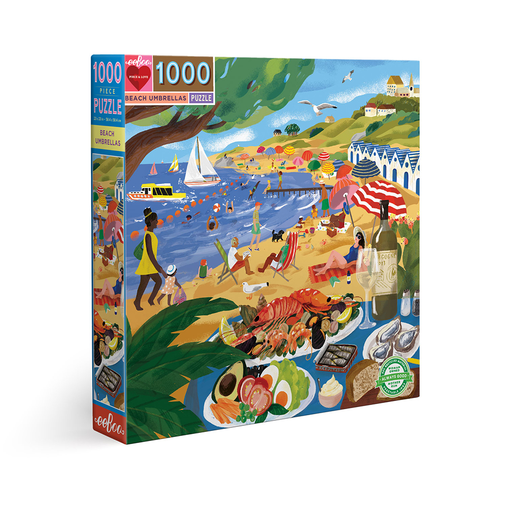 eeBoo - Puzzle 1000 pcs - Beach Umbrellas (EPZTBUM)