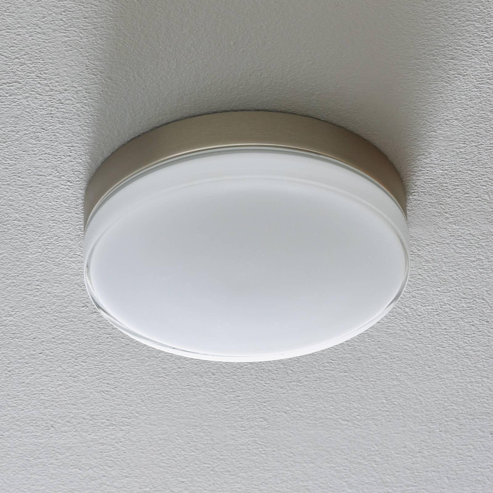 BEGA 12128 LED-taklampe DALI 930 stål, 26 cm