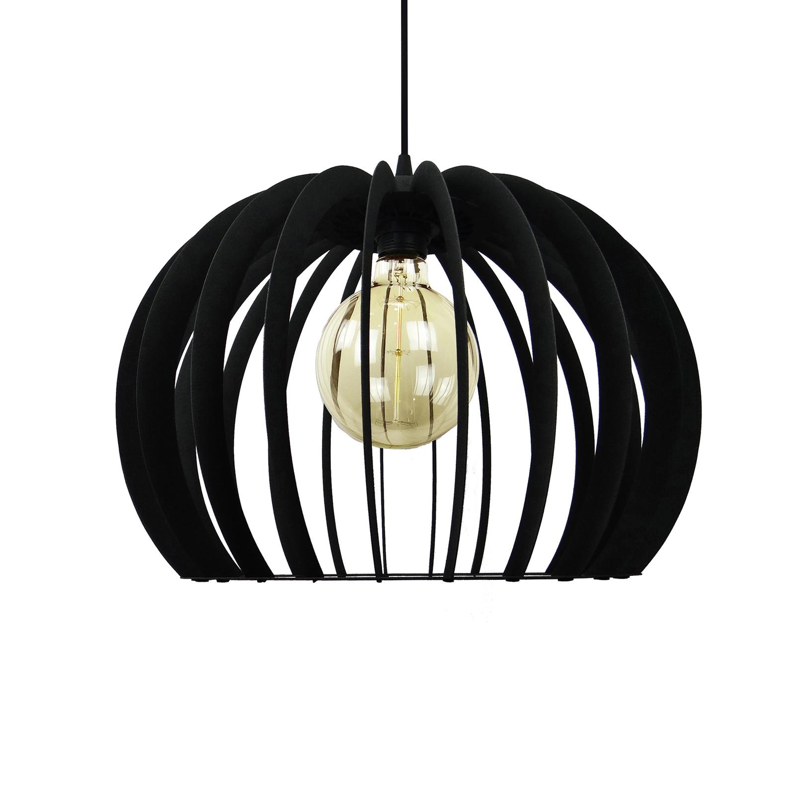 Riippuvalaisin Kula, 1-lamppuinen, musta, Ø 43 cm
