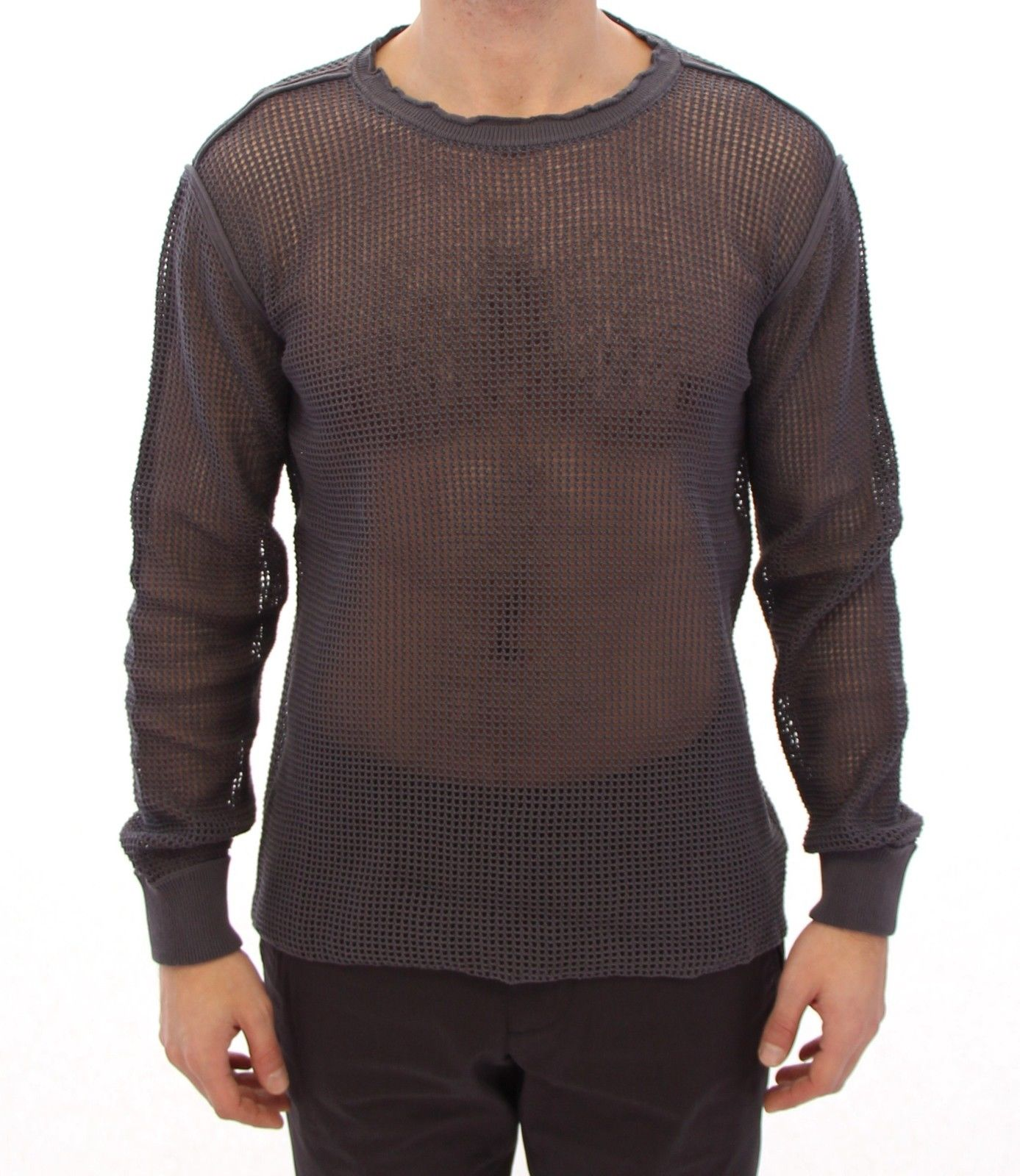 Dolce & Gabbana Men's Runway Netz Pullover Netted Sweater Purple GTH10674 - IT54 | XXL