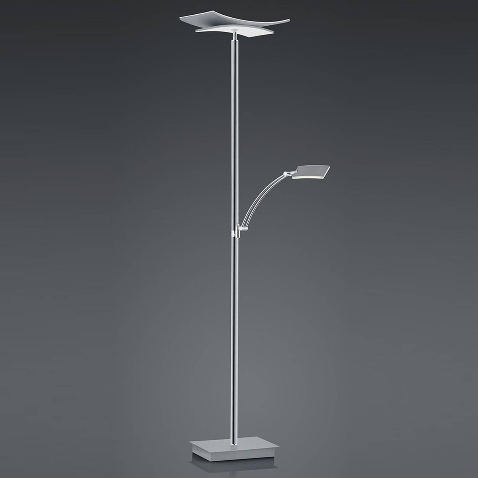 B-Leuchten Liberty LED-gulvlampe lesearm nikkel