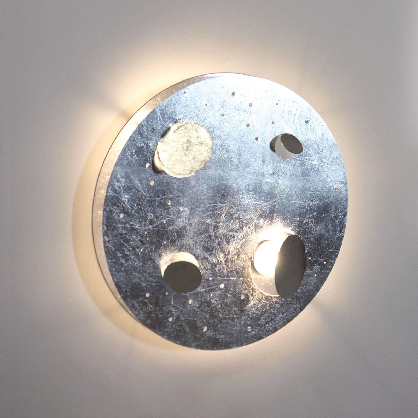 Knikerboker Buchi -LED-seinävalaisin lehtihopea