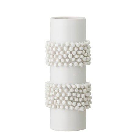 Vase Hvit Steingods 20,5 cm