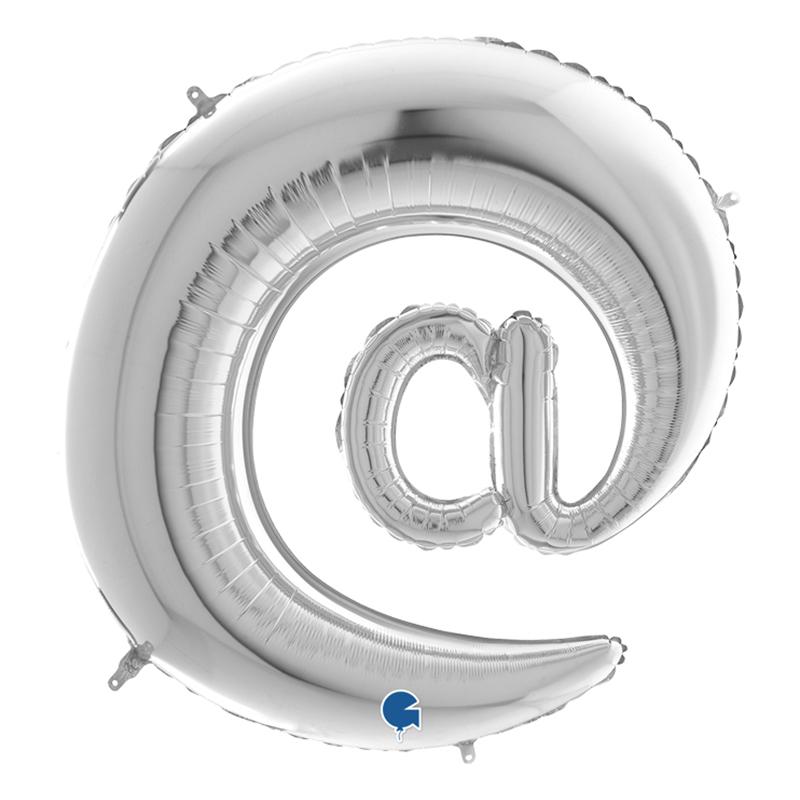 Bokstavsballong Silver - Tecken @