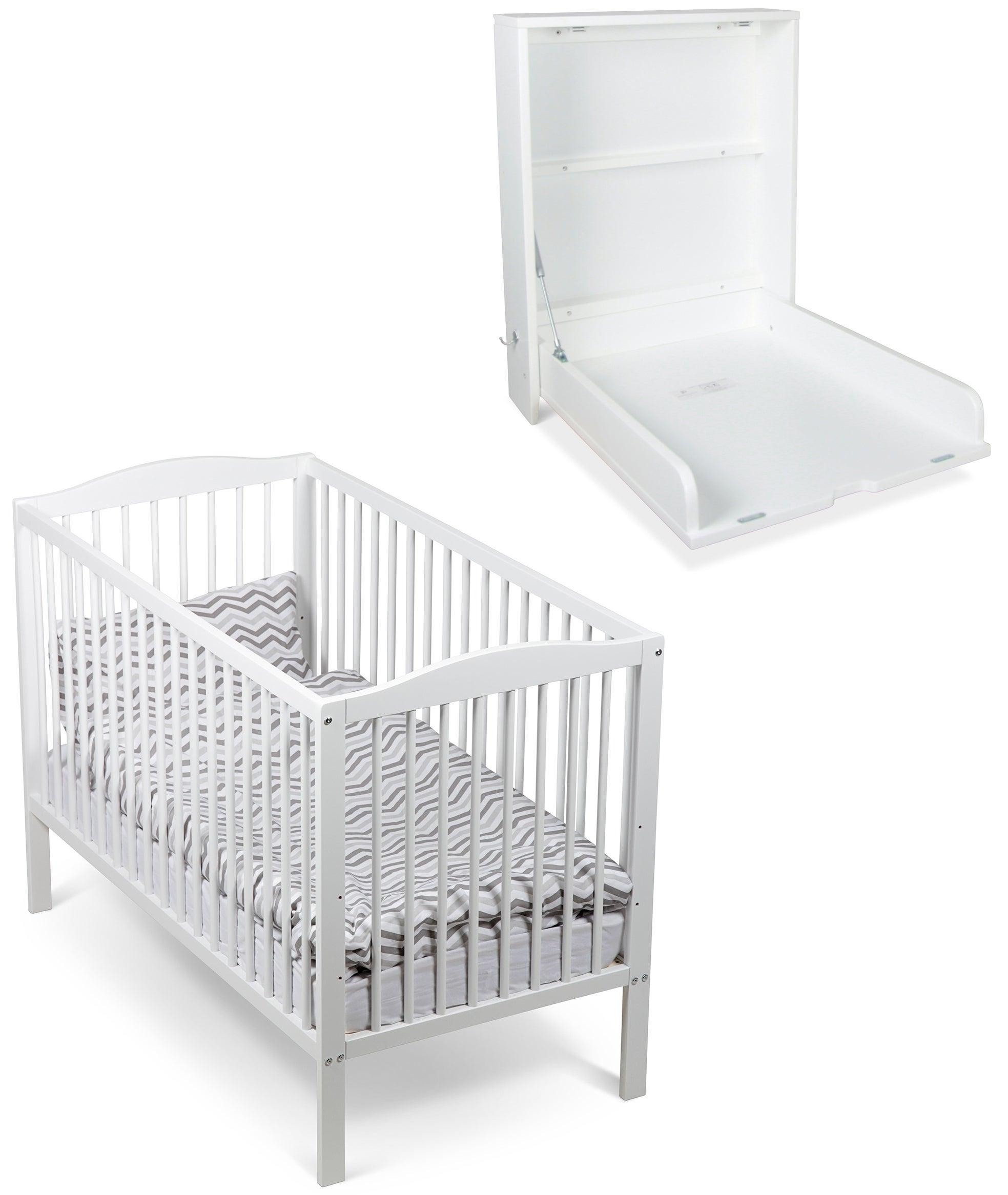 JLY Dream Basic Pinnasänky ja Dream Hoitopöytä Seinälle, Valkoinen