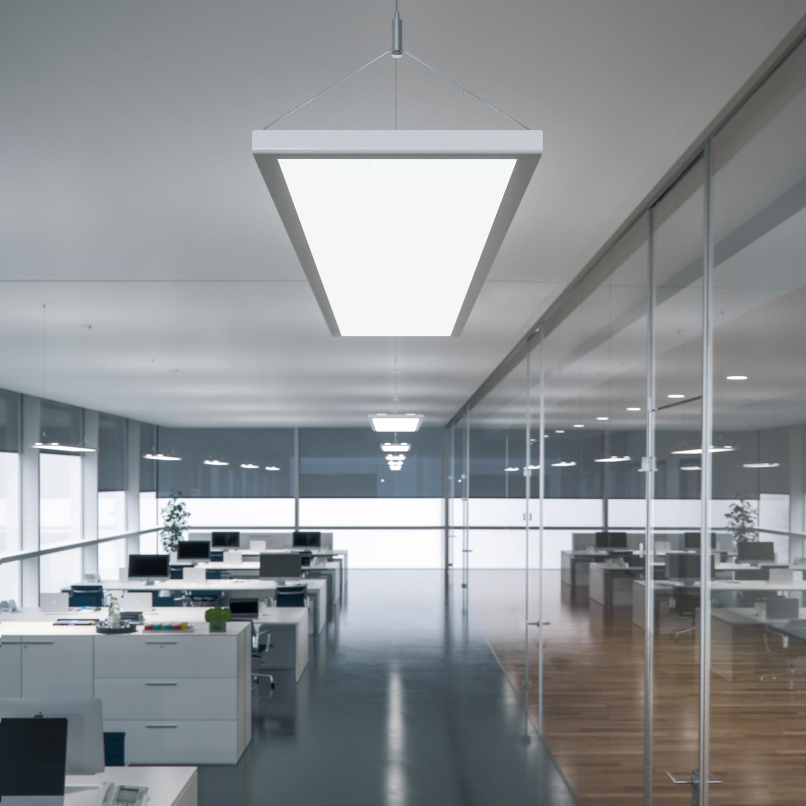 LED-riippuvalaisin IDOO toimistoon 49 W, hopea