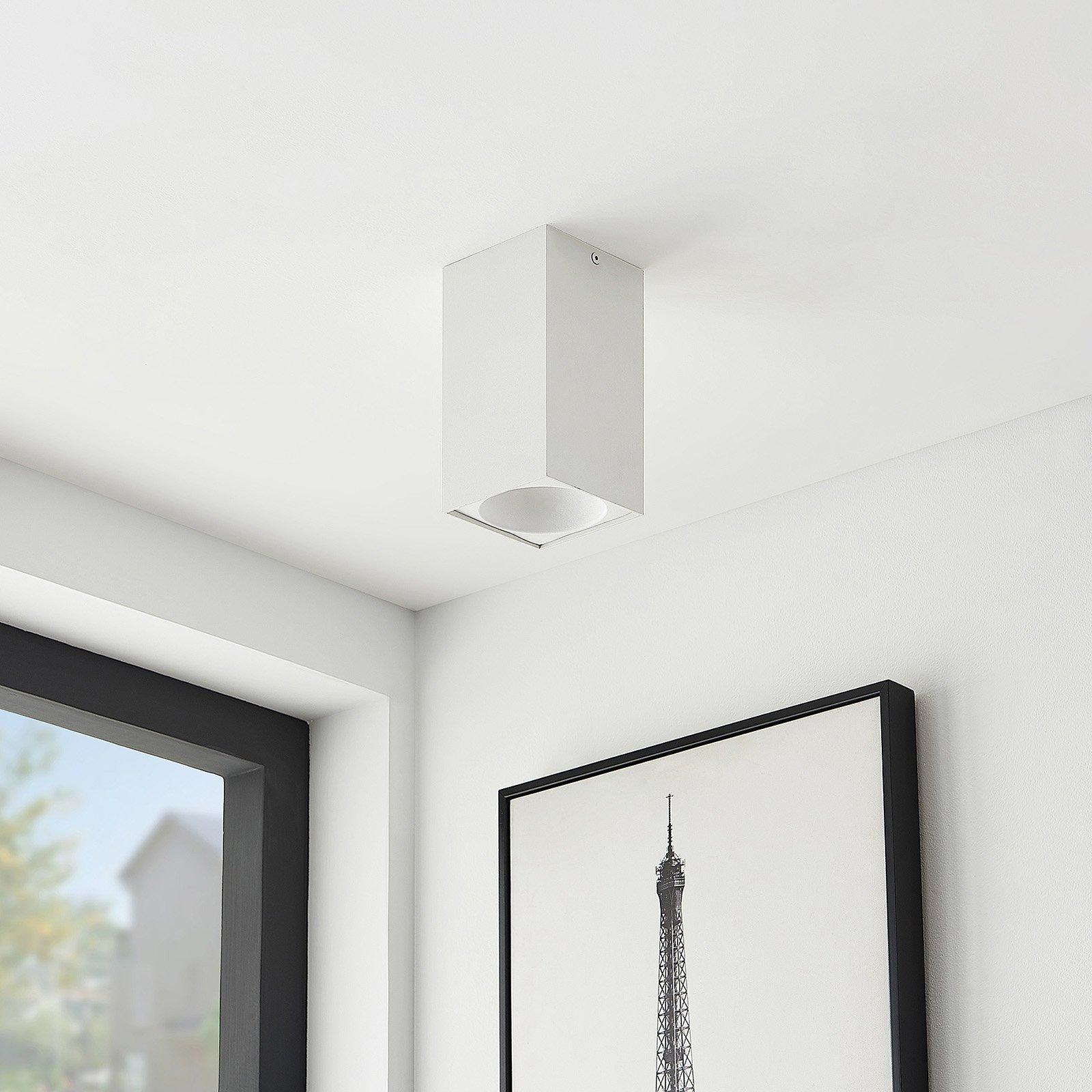 Arcchio Hinka taklampe, kantet, 18 cm, hvit
