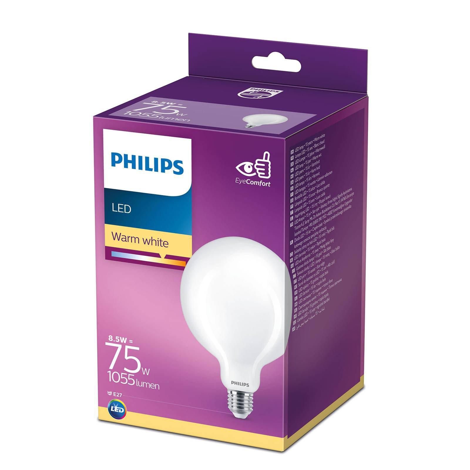 Philips LED Classic globepære E27 G120 8,5 W