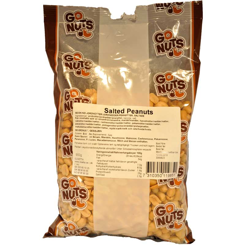 Jordnötter salta Big bag - 50% rabatt