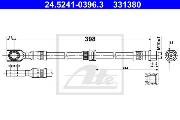 Jarruletku ATE 24.5241-0396.3