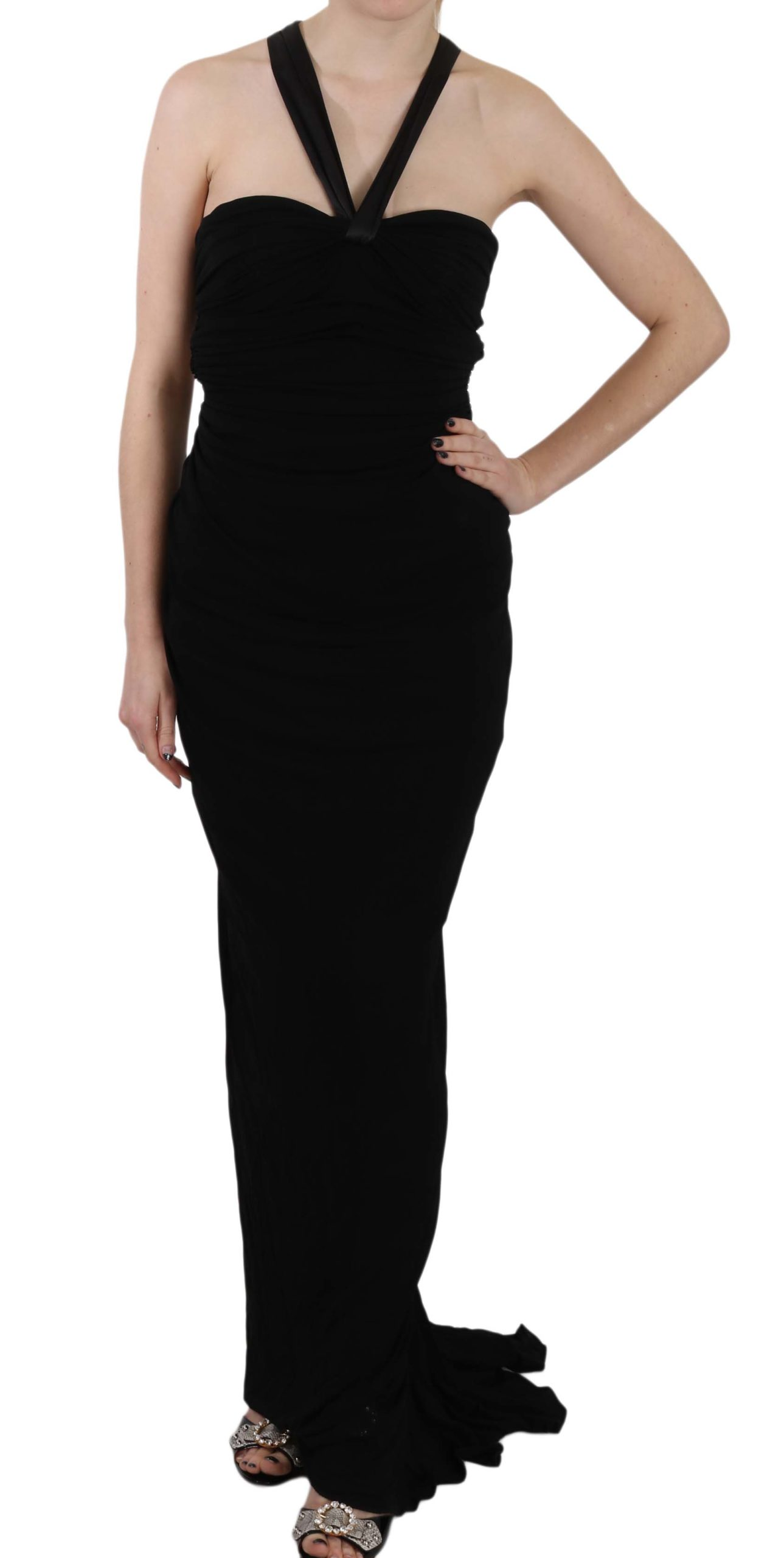 Dolce & Gabbana Women's Halter Sheath Sleeveless Gown Dress DR1685 - IT40|S