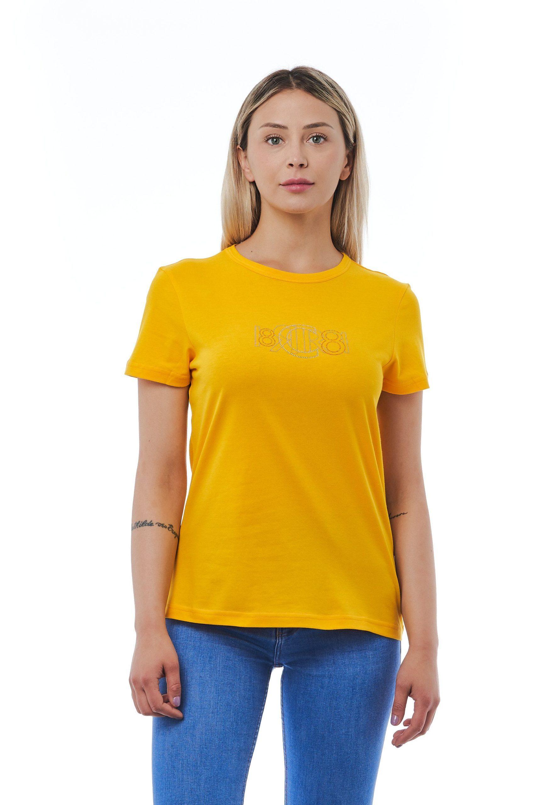 Cerruti 1881 Women's Giallo T-Shirt Yellow CE1410178 - M