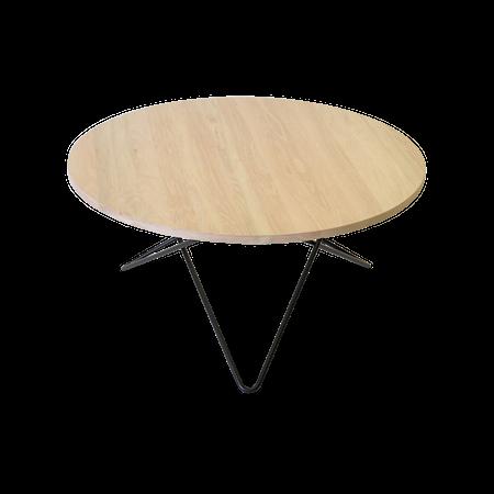 O Table Eik med Svart Ramme Ø80
