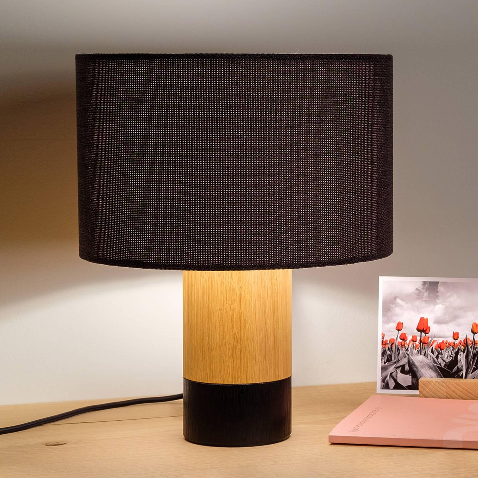 Pöytälamppu Klippa musta Trooper Graphit, 31 cm