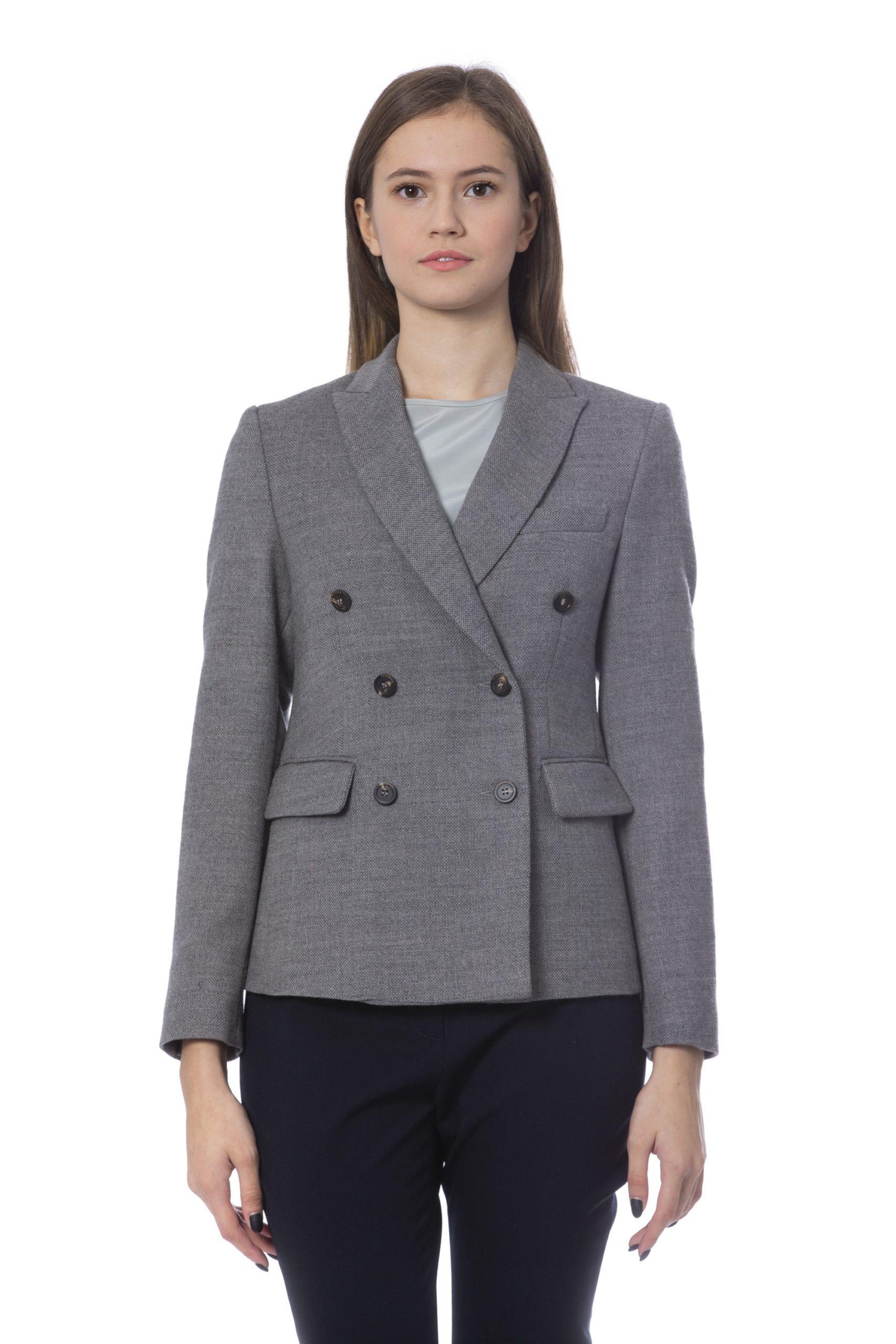 Peserico Women's Jacket Grey PE854594 - IT42 | S