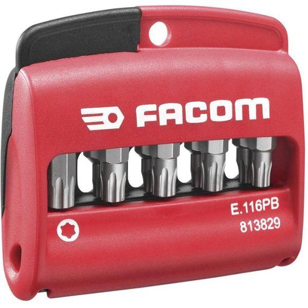 Facom E.116PB Bitssett i etui 10 stk., TORX Plus