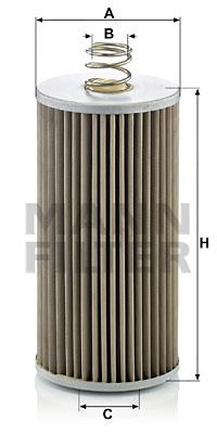 Suodatin, työhydrauliikka MANN-FILTER H 816/1