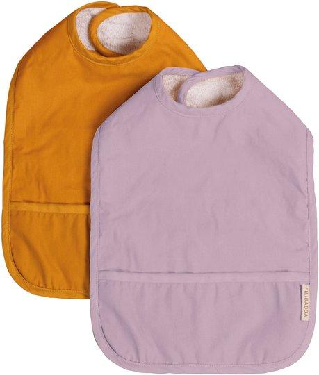 FILIBABBA Smekke med Velcro 2-Pack, Golden Mustard/Light Lavender