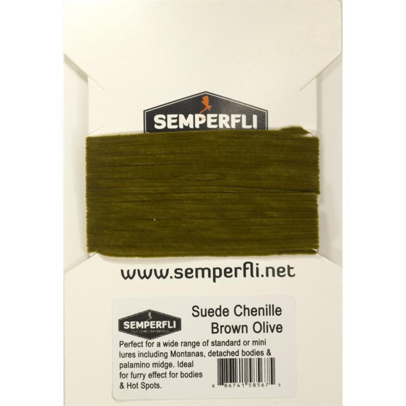 Semperfli Suede Chenille Brown Olive