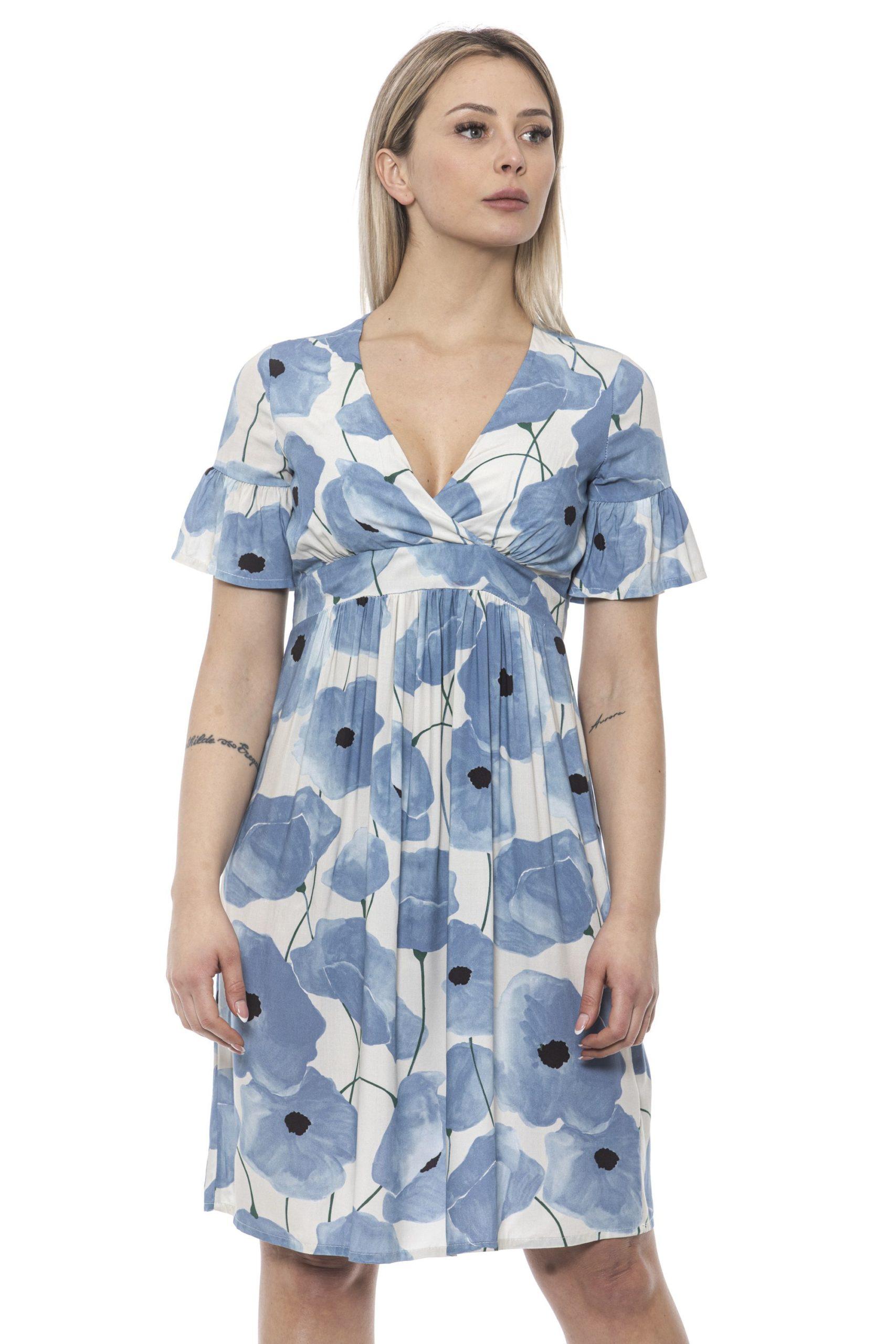 Alpha Studio Women's Chambray Dress Light Blue AL1374931 - IT40   XS