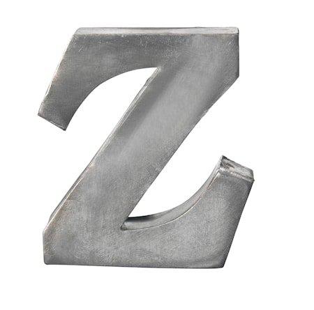 Bokstav Z 5,5 cm - Zinc
