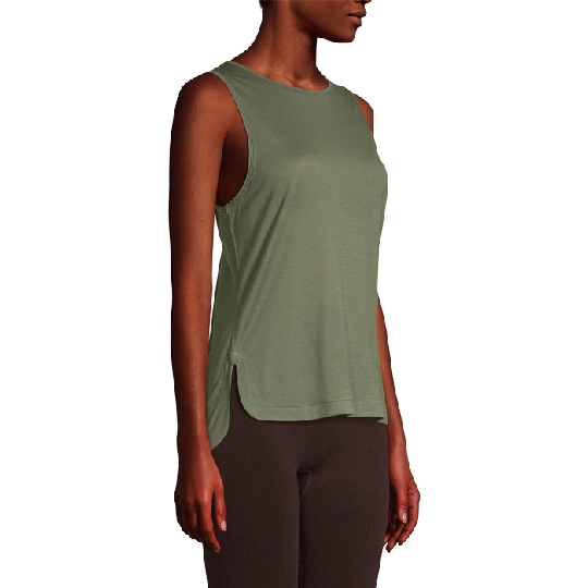 Drapy Muscle Tank, Northern Green