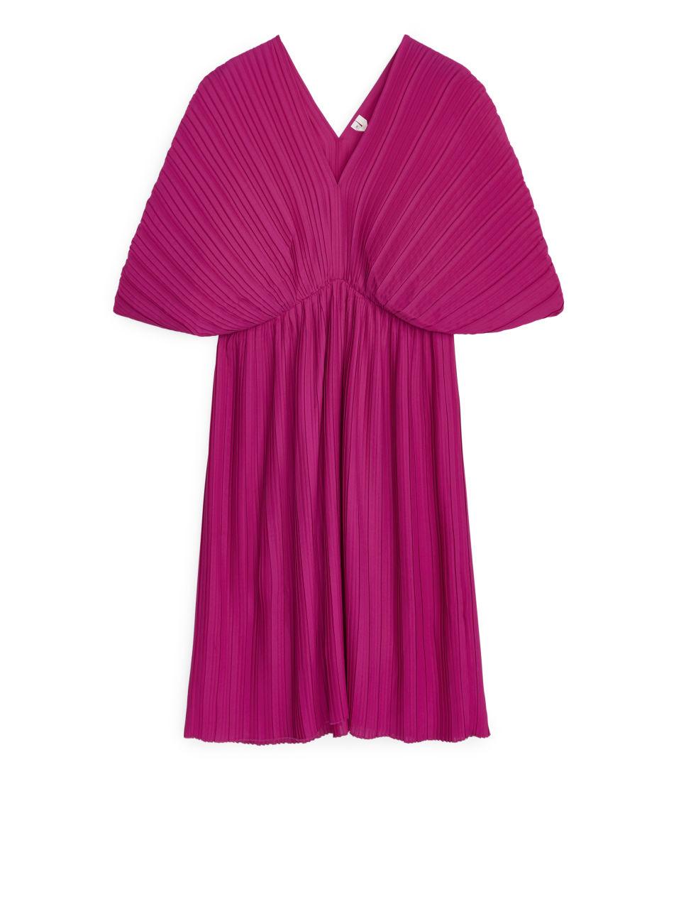 Short Pleated Dress - Pink