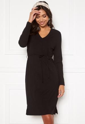Happy Holly Charlie rib dress Black 36/38