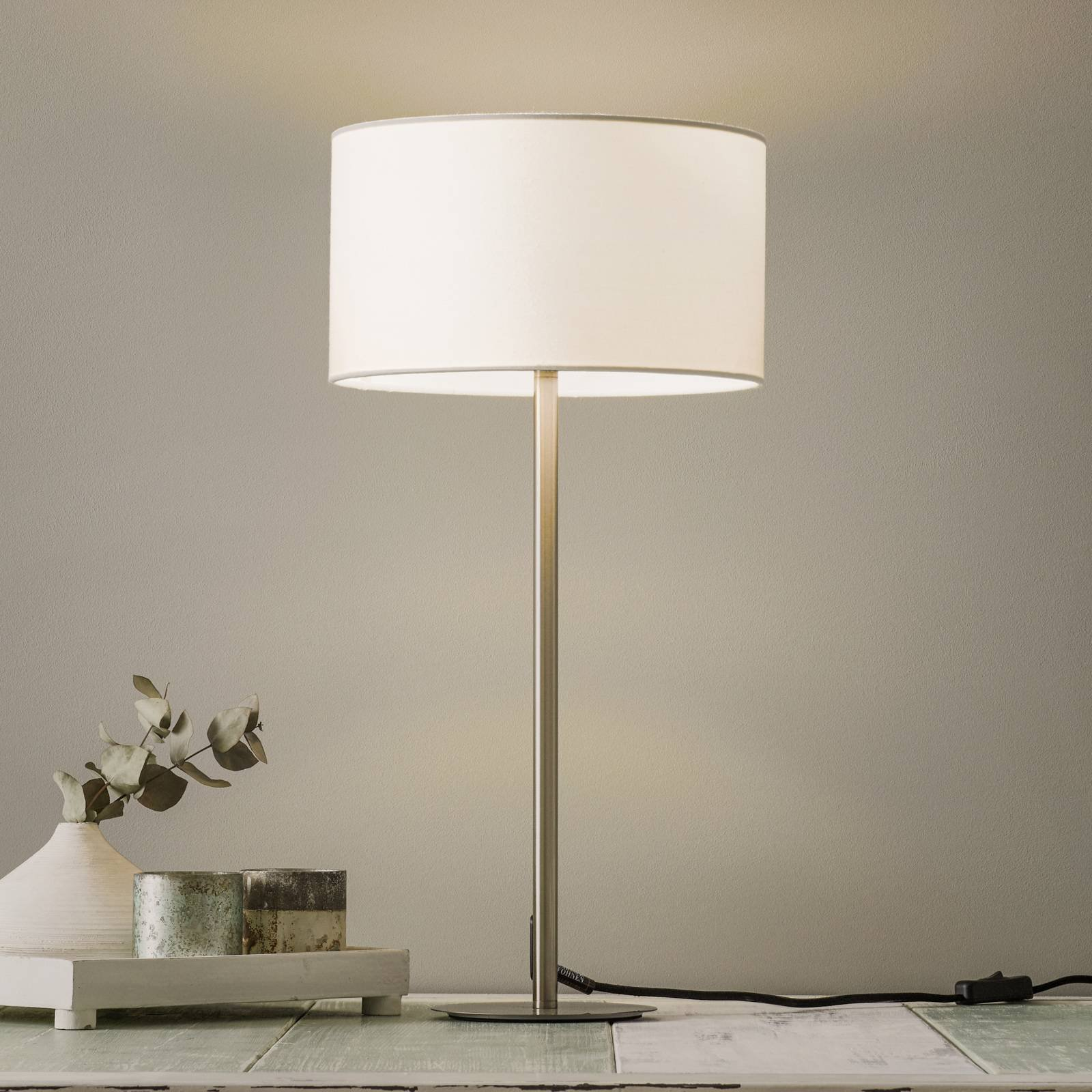 Schöner Wohnen Pina bordlampe, hvit