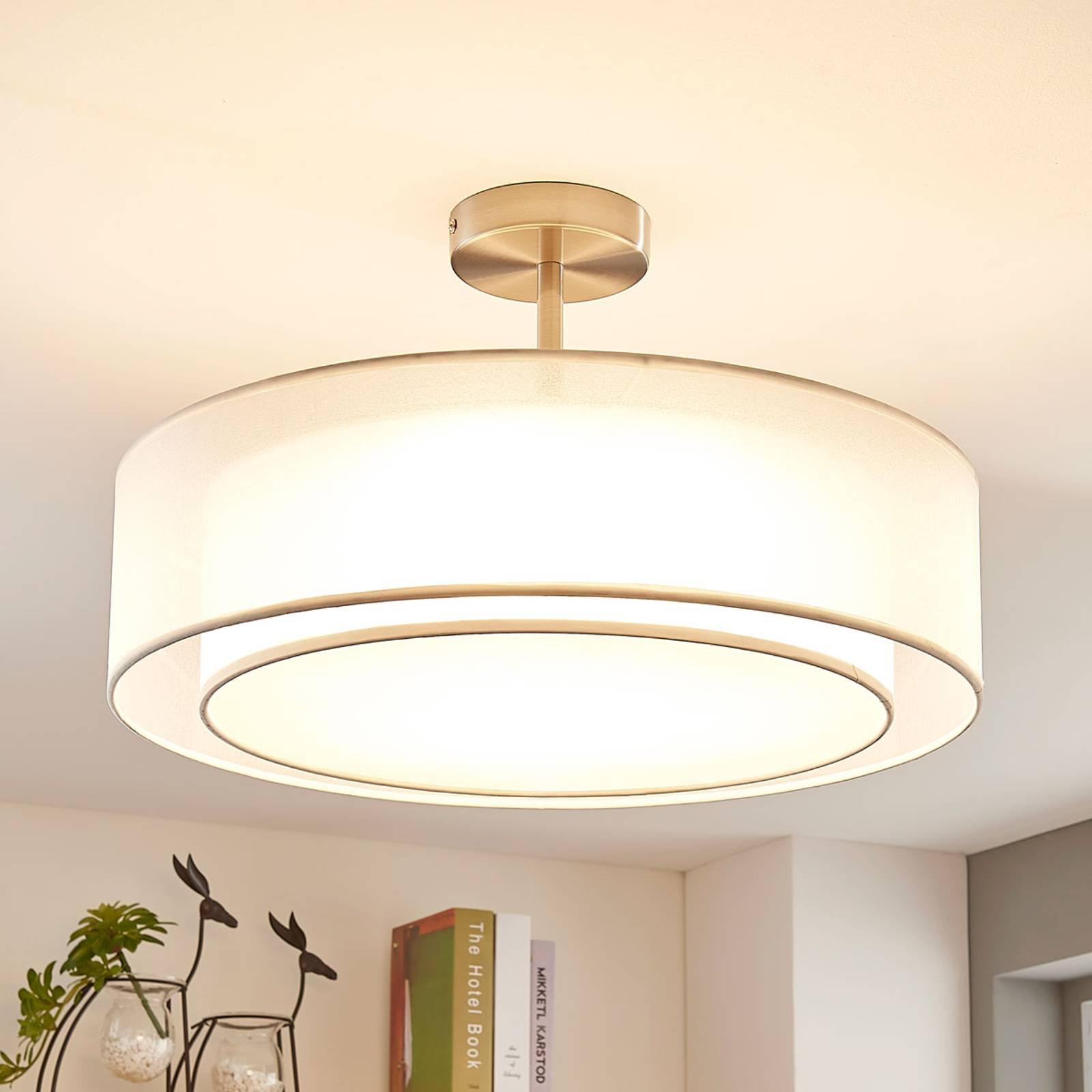 LED-taklampe Pikka, 3-trinns dimbar, hvit