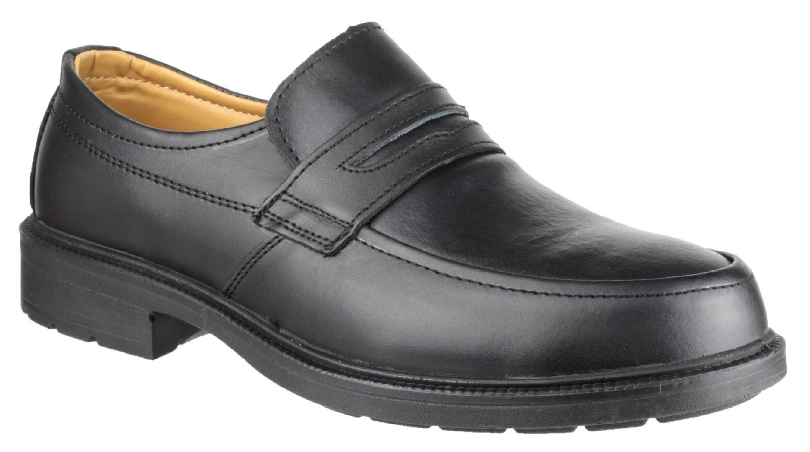 Amblers Unisex Safety Mocc Toe S1P SRC Slip On Shoe Black 25278 - Black 6