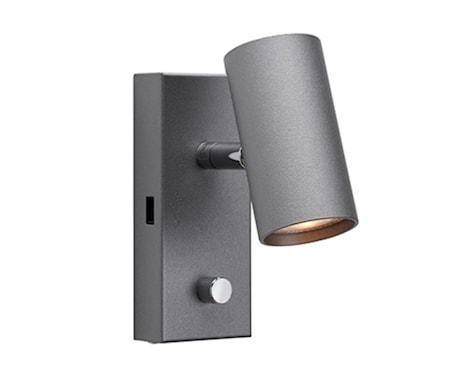 Tyson Vägg USB höger grafit LED sladd ut ner