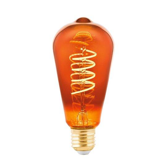 LED-lamppu E27 4W rustiikki, huurrettu kupari