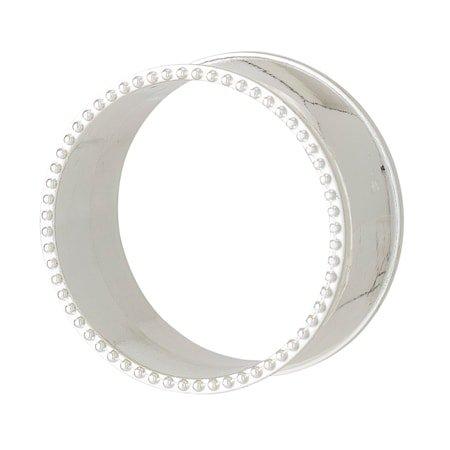 Serviettring 4 stk Zinc Alloy - Sølv