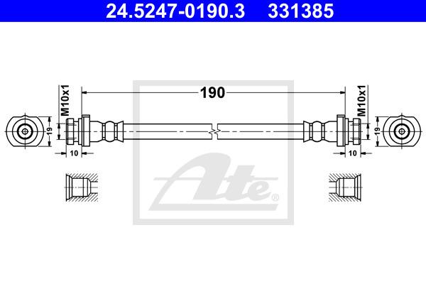 Jarruletku ATE 24.5247-0190.3