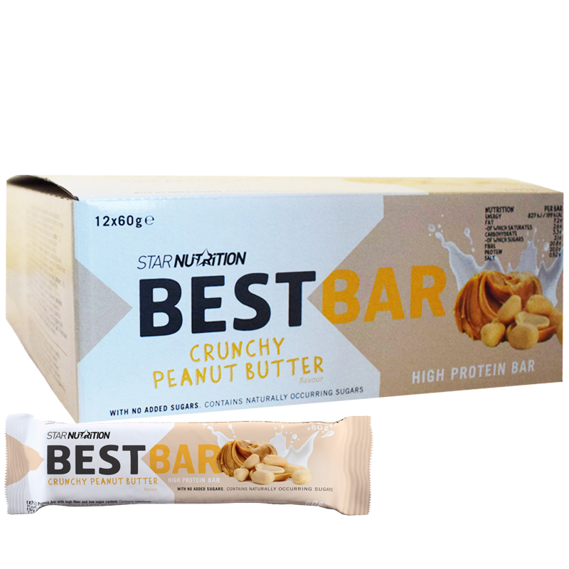 """Laatikollinen Proteiinipatukoita """"Crunchy Peanut Butter"""" 12 x 60g - 38% alennus"""