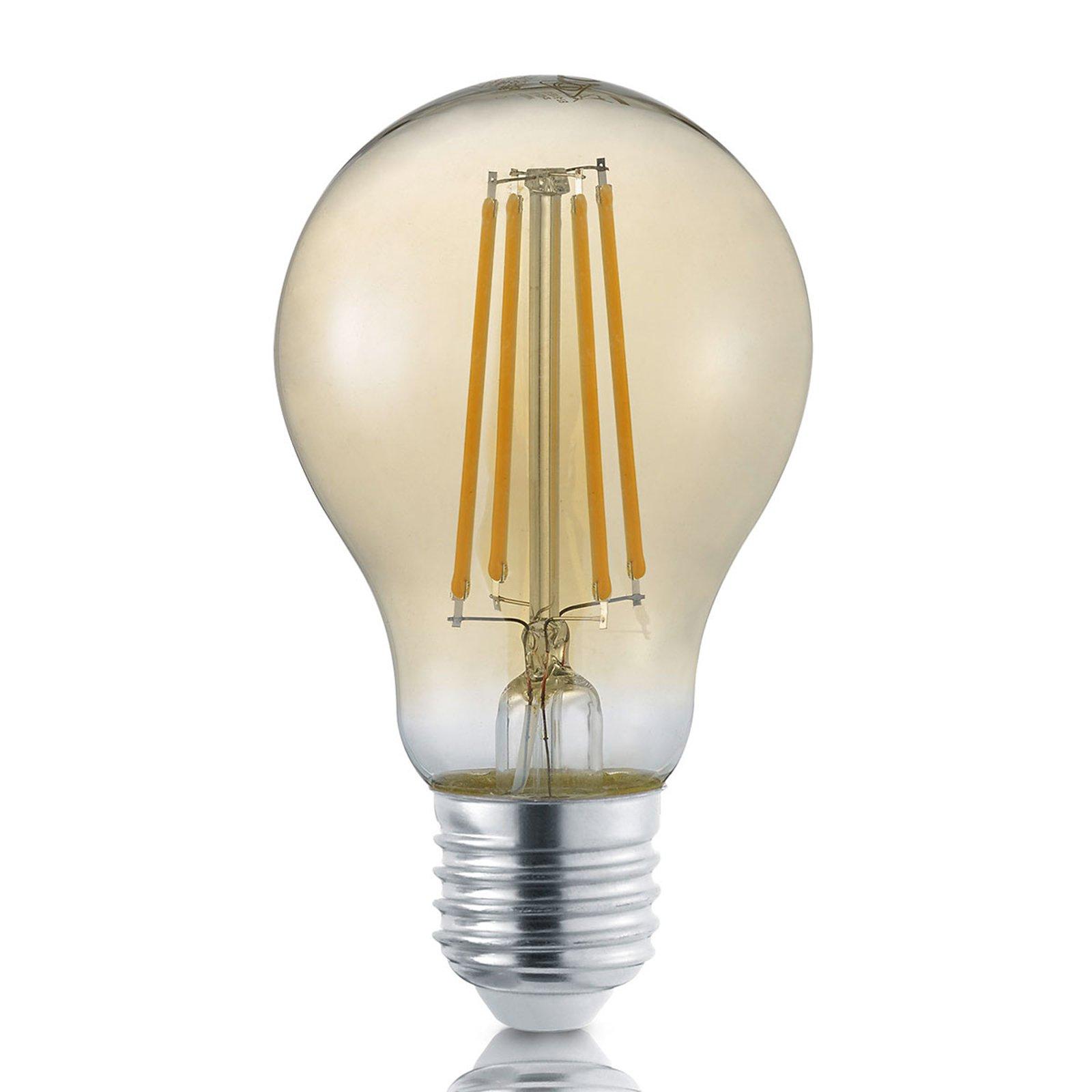 LED-filamentpære E27 8 W gull dimmebryter 2 700 K