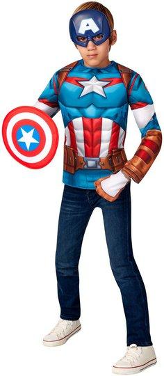 Marvel Avengers Captain America Kostyme, 4-6 år