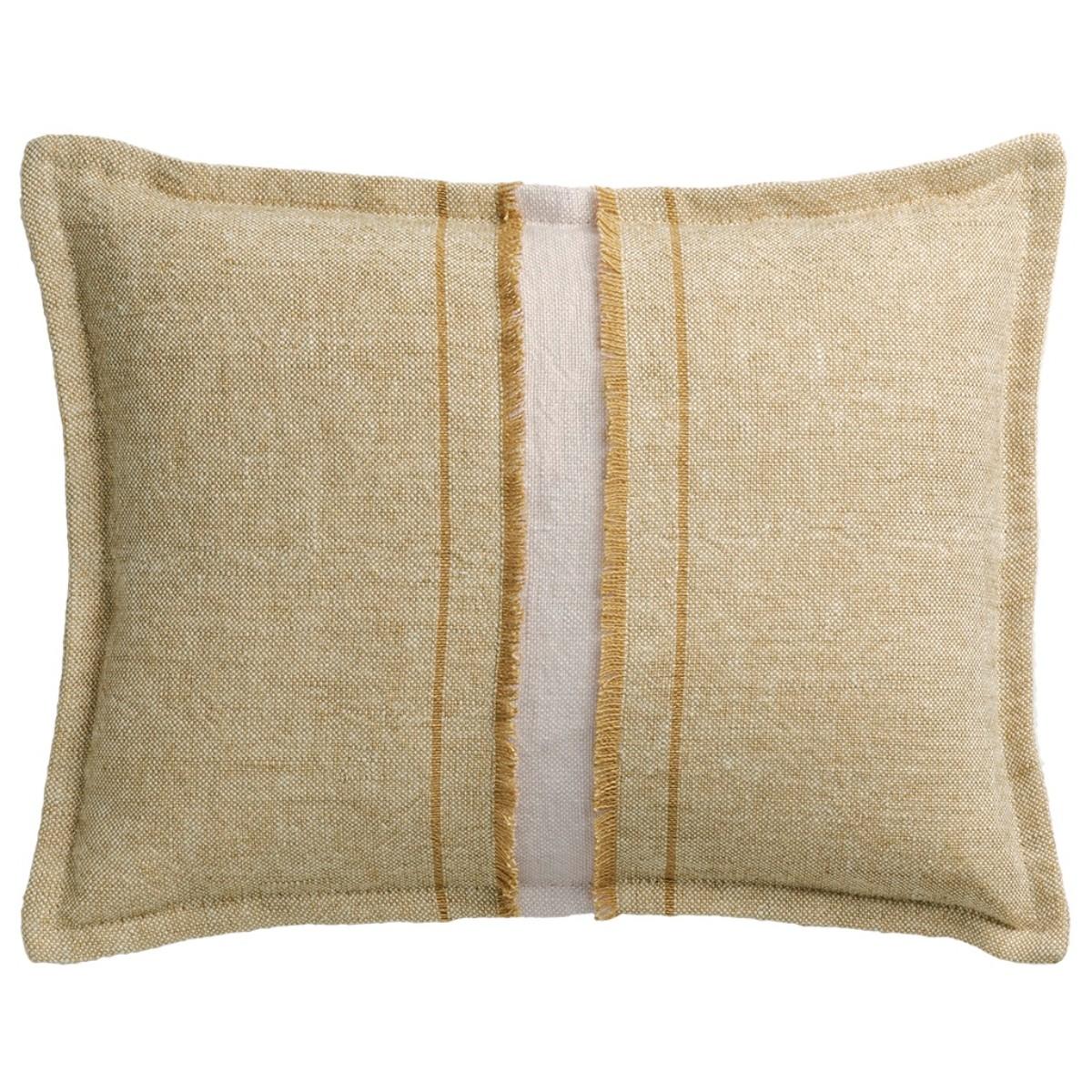 de Le Cuona | Haiku Cushion With Fringe Detail Straw