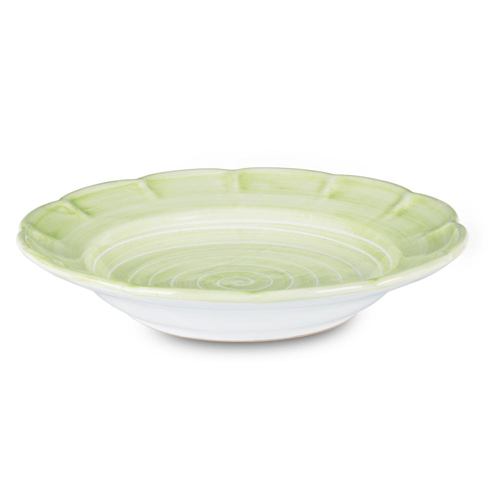 Spiral Pasta Dish 23.5cm in Leaf Green by Sol'Art
