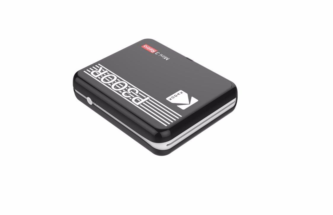 Kodak - Mini 3 Plus Retro Mini Printer - Black