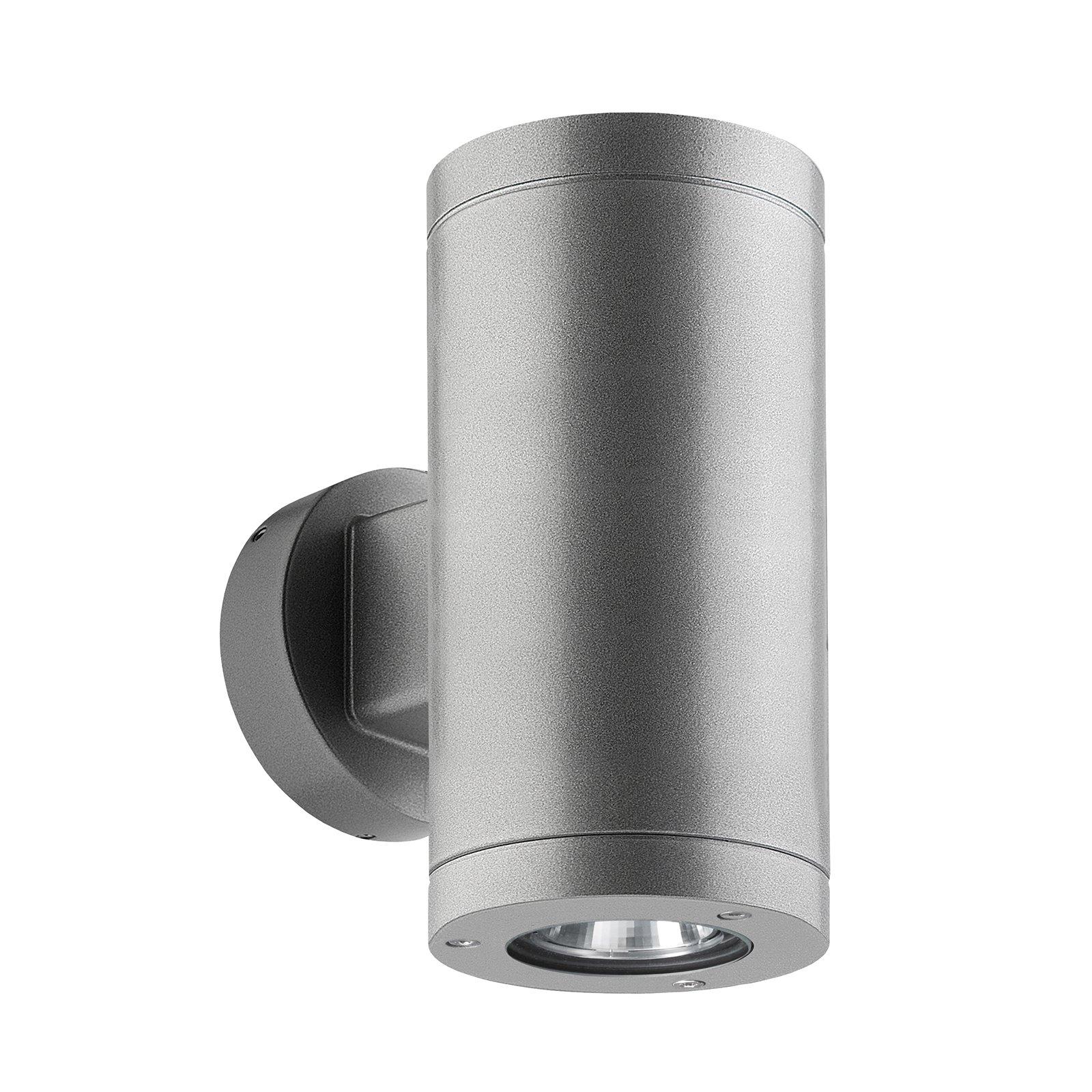 1065 up/down utendørs vegglampe, sølv
