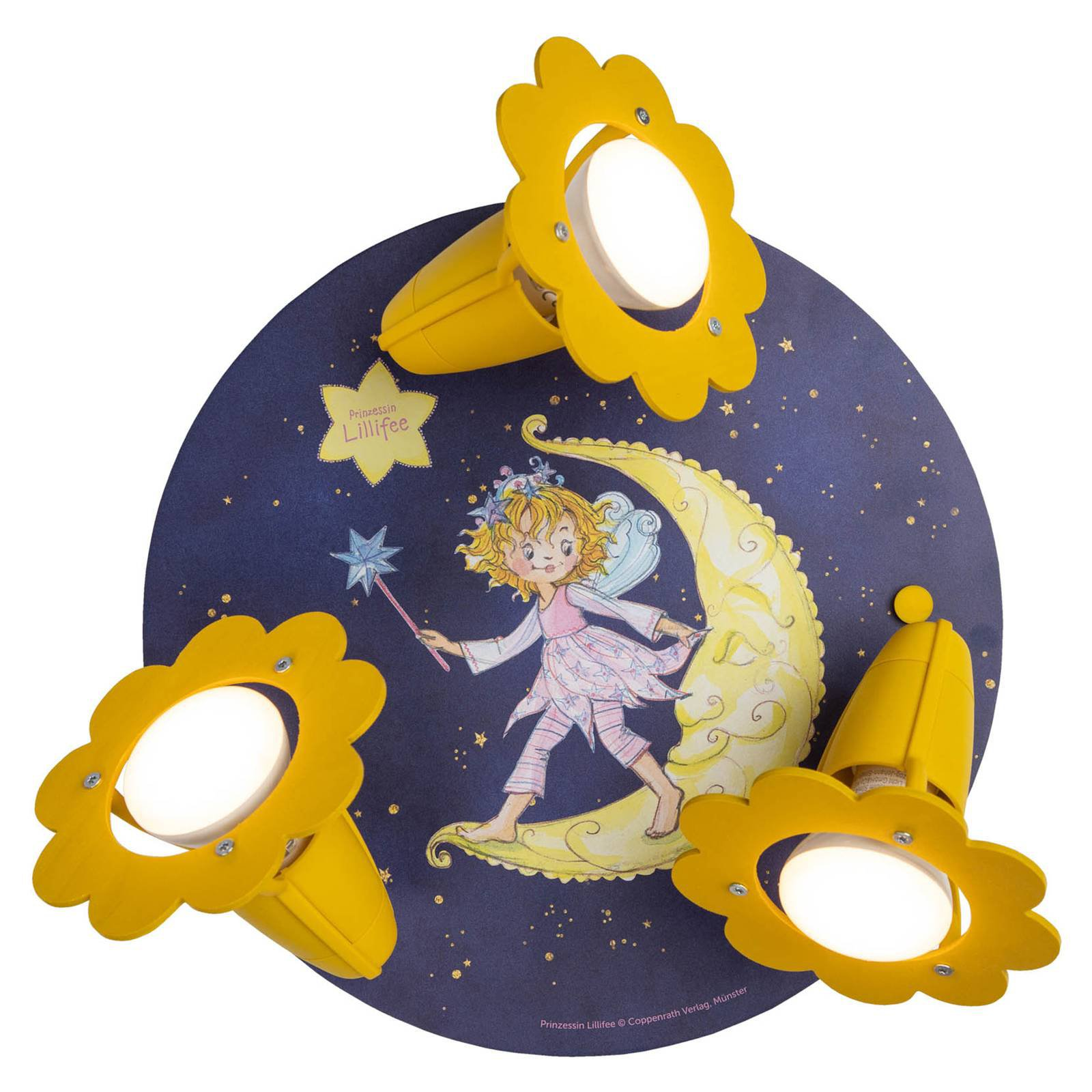 Taklampe Prinsesse Lillifee, natt, 3 lyskilder